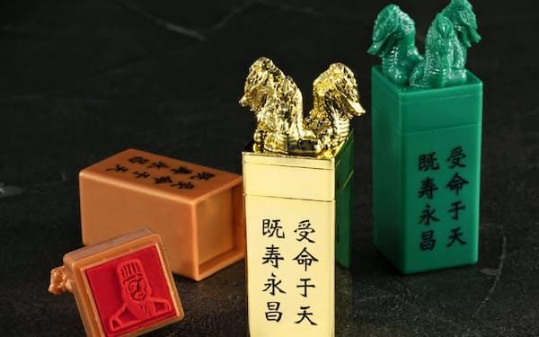 バンダイがカプセル自販機向け商品として売り出す「横山三国志 伝国の玉璽スタンプ」