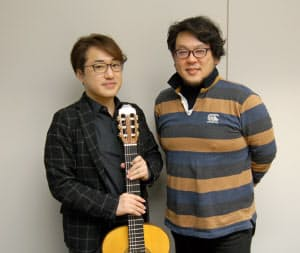 シューベルトの歌曲集「白鳥の歌」で共演するテノールの望月哲也(右)とギターの松尾俊介