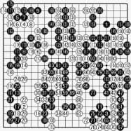 井山王座(黒)対 江九段(白) 最終譜面・211手まで ●127(112)