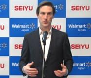 西友の新CEOに就任したリオネル・デスクリー氏(東京都千代田区)