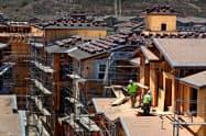 米建設業者の景況感は前月と変わらなかった=ロイター