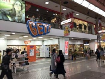 銀天街の商業施設周辺で再開発計画が進む(松山市)