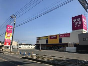 JR安浦駅近くにあったスーパー店舗跡。浸水のダメージが大きく営業再開を断念した(呉市安浦町)