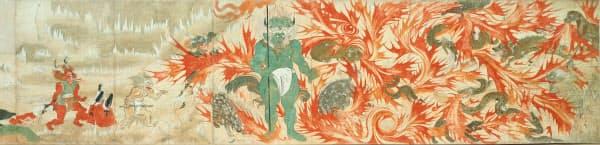 国宝「北野天神縁起絵巻 承久本」第8巻(部分)=北野天満宮蔵