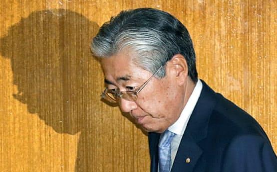 日本オリンピック委員会(JOC)の理事会に出席した竹田恒和会長(19日午後、東京都渋谷区)