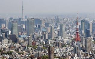 東京都心のビル群