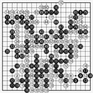 井山王座(白)対柯九段(黒) 最終譜面・193手まで