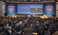 昨年5月の株主分割の効果で今年は前年比約2.5倍の1000人以上が株主総会に出席した(20日、ソウル)