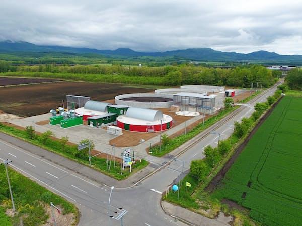 北ガスはバイオガスプラントなどを通じて再生可能エネルギーの効率利用を支援する(北海道上士幌町)