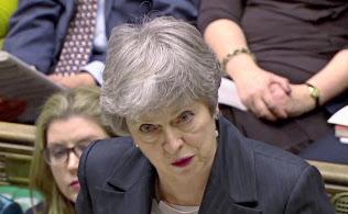 メイ首相は離脱案の3回目の採決に臨む方針だが、可決のメドはたっていない(ロイター)