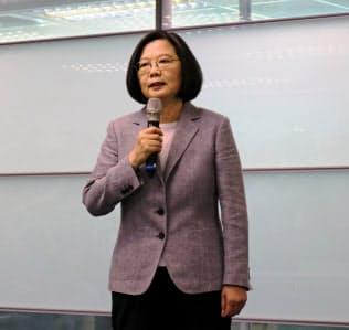 台湾の蔡英文総統(21日、台北市内)