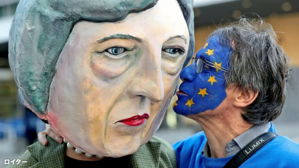 「EU離脱撤回を」 100万超の署名、英議会に集まる
