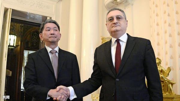 日ロ平和条約の次官級協議「若干の進展」、次は日本開催