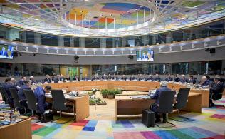 21日に始まったEU首脳会議(?#33437;轔濂氓互耄?欧州理事会提供