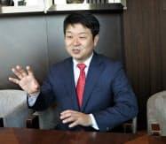 アイリスオーヤマの大山晃弘社長は日韓の外交関係の悪化について「ビジネスへの影響は少ない」と語った(22日、ソウル郊外)