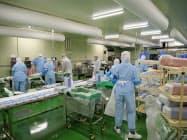 一部総菜の製造は既に始めた(富山県射水市)