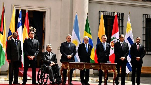 南米地域連合設立へ首脳会議、反マドゥロ政権で一致