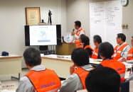 市は市役所内に災害対策本部を設置し、状況確認や市民への情報伝達にあたった(23日、茨城県常陸太田市)
