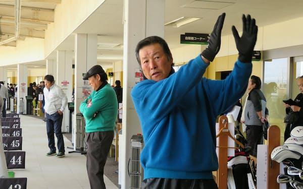 尾崎は「ヘッドスピードを上げるのがテーマ」と話す