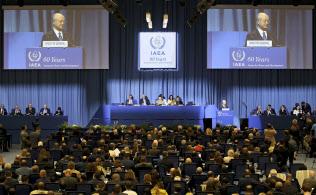 日米の原子力担当者が意見交換した2017年9月のIAEA総会