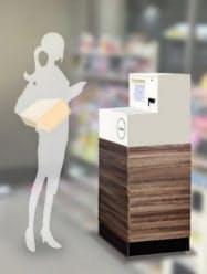三菱商事とローソンが4月から始める通販サイトの商品などを返却できる専用ボックスのイメージ