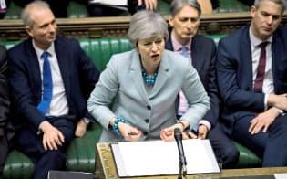 EUの離脱期限は再び延期となりました。メイ英首相は求心力を維持できるでしょうか=ロイター