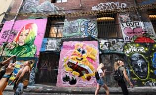 多くの観光客がストリートアート目当てに訪れる(オーストラリア・メルボルン)