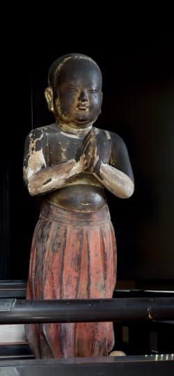 聖徳太子二歳童形像(京都市左京区の白沙村荘)