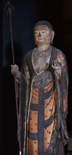 地蔵尊立像(京都市左京区の白沙村荘)