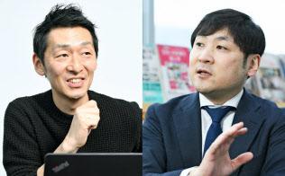 菊地玲氏(左)と曽和利光氏