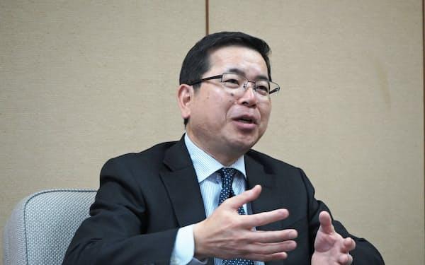 4月1日付で頭取に就任する梅田仁司常務