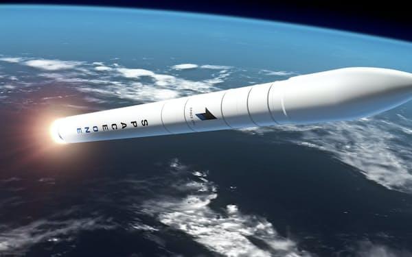 スペースワンが打ち上げるロケットのイメージ図(スペースワン提供)