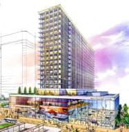 1000室規模のホテルなどが入居する(完成予想図)