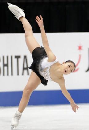 坂本は演技構成点のスケーティングが高い評価を受けた