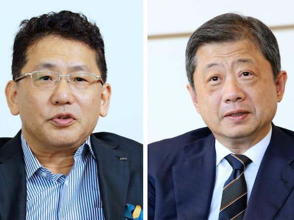 LIXILグループの瀬戸欣哉社長(写真左)と潮田洋一郎会長兼CEO