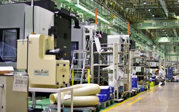 愛知県大口町のオークマ本社工場