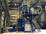 サントリーHDと協栄産業はペットボトル再生産の設備を増やす。(茨城県笠岡市)