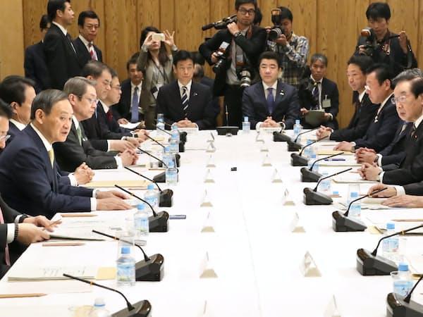 首相官邸で開かれた統合イノベーション戦略推進会議(3月29日)