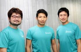 (左から)ビートフィットを共同創業した永田昌一氏、本田雄一氏、宮崎学氏