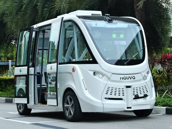 ウィラーが出資するシンガポールの三井物産系カーシェア大手、カークラブが5月にも実験運行を予定するオンデマンド自動運転車