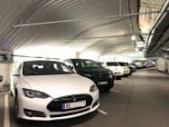 オスロのEV専用駐車場