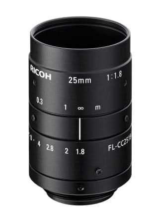 リコーインダストリアルソリューションズが発売した焦点距離25ミリメートルの産業用レンズ「RICOH FL-CC2518-5MX」