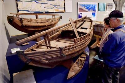 京都府立丹後郷土資料館に展示されている北前船の模型