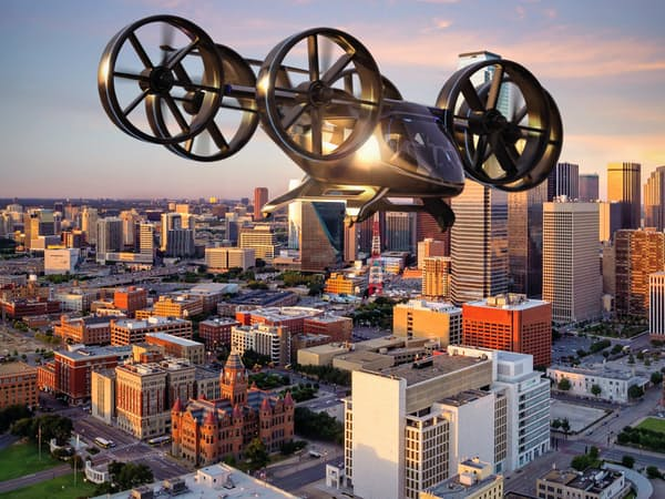 住商と事業提携する米ベル・ヘリコプター社が開発する「空飛ぶクルマ」