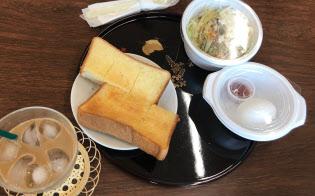 井上氏が国会内のカフェでテークアウトしたモーニング