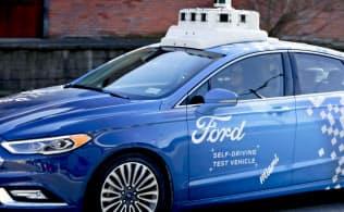 フォードの自動運転の試験車両(米ペンシルベニア州)=AP