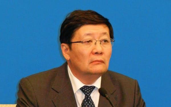 改革派官僚として有名な楼氏は異例の早期退任となった(2016年、北京市内で)