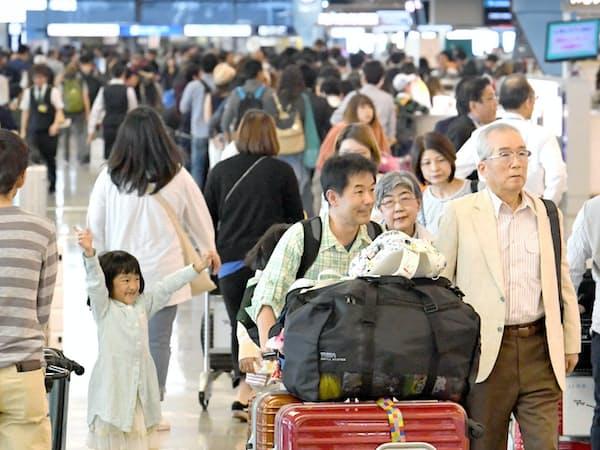 10連休でゴールデンウイーク(GW)で海外に出かける人が増える見通しだ