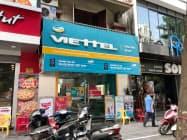 ベトテルは従来、ファーウェイを中心に通信機器を選んできた(ハノイ市内の店舗)