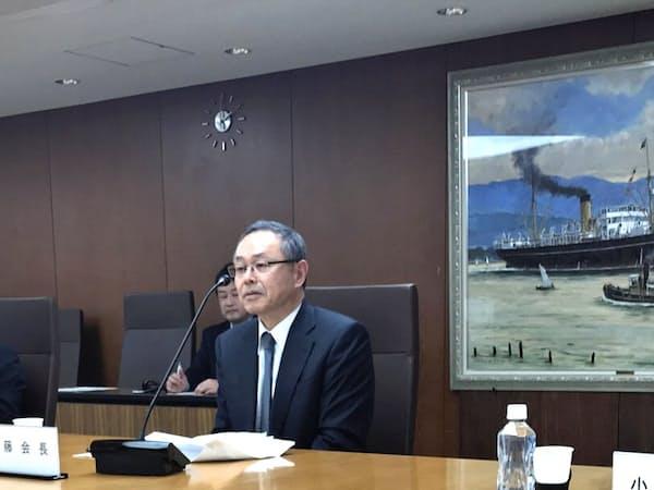環境対策にかかるコスト負担への理解を求めた(日本船主協会の武藤会長)